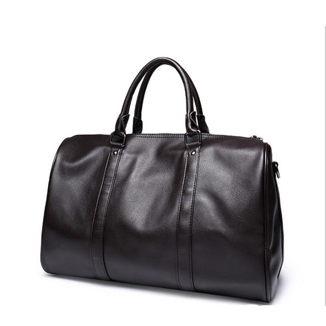 Negro/café de cuero suave bolsa de lona del bolso casual de negocios hombres de gran capacidad de la bolsa de documento de viaje/bolsa de mensajero bolsas