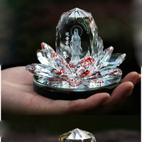 Hot sale Guanyin Lotus Car Perfume Seat Crystal Home Decorative Air Freshener Bottle Gift