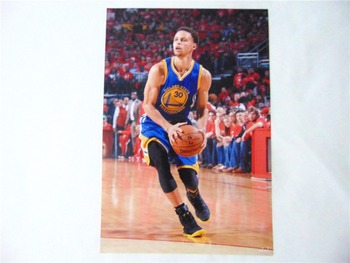 8*(42x29cm)NBA basketball star Stephen Curry Warriors 8 mounted poster sticker mural wall stickers 4