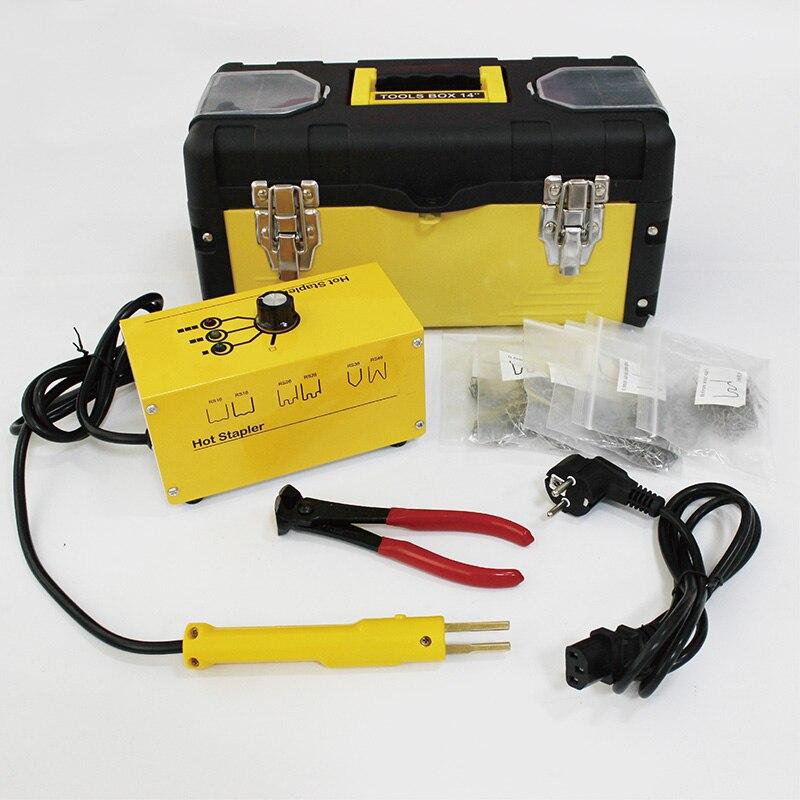 WUPYI Auto Car Bumper Repair Plastic Welder Kit,Hot Stapler Plastic Welding Machine 110V with 600PCS Staples,Car Repair Tools