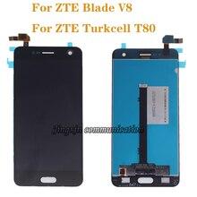 Original lcd para zte lâmina v8 display lcd tela de toque digitador assembléia para zte turkcell t80 bv0800 kit reparo exibição