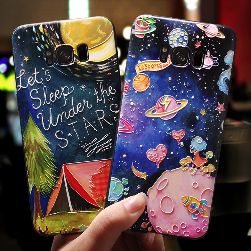 3D Emboss Cartoon For Samsung Galaxy S7 Edge J3 J5 J4 J6 Plus J7 J8 A7 2018 A30 A5 2016 2017 S8 S9 Plus Note 8 9 Case TPU Cover