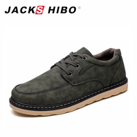 JACKSHIBO Spring Summer Mens Shoes Casual PU Leather Man Fashion Footwear Original Shoe Chaussure Homme Black