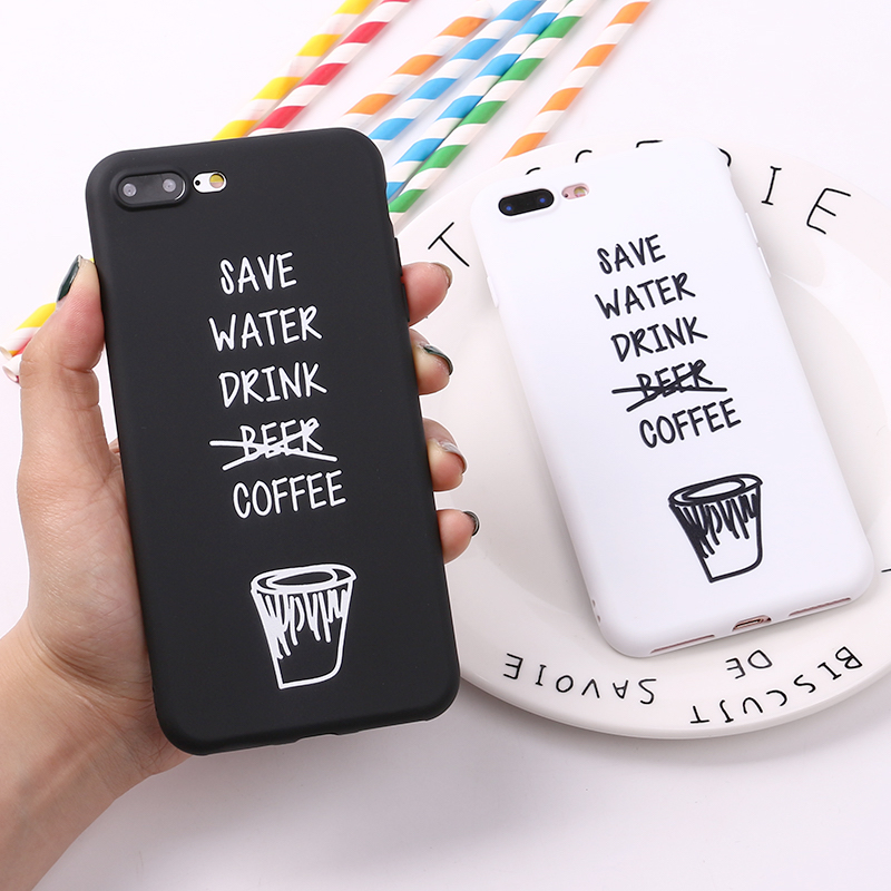 Coffee Cool Quote Funny Words Soft TPU Silicone Matte Case Fundas Coque Cover For Iphone 6 6S 5 5S SE 8 8Plus X XS Max7 7Plus