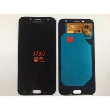 Original Amoled para Samsung Galaxy J7 Pro 2017 J730 J730F pantalla LCD con pantalla táctil digitalizador Asamblea Brightnes ajuste