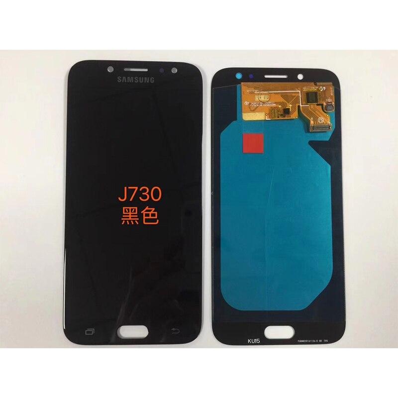 Super Amoled Für Samsung Galaxy J7 Pro 2017 J730 J730F LCD Display Mit Touch Screen Digitizer Montage Helligkeit Einstellung