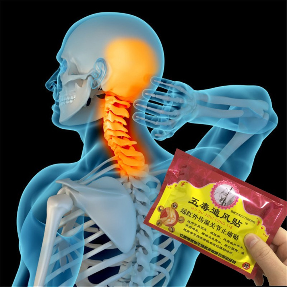 Miyueleni 8 Pcs/bag Far Infrared Centipede Venom Pain Relief Plasters Knee Injury Muscle Fatigue Body Massage Essential Oil Essential Oil Beauty & Health
