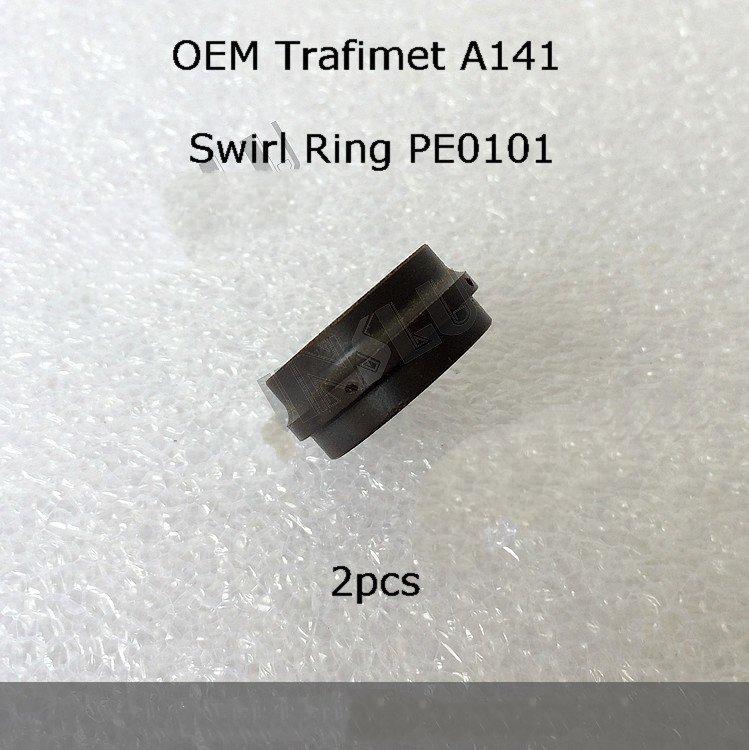 A101 A141 PE0101 Diffuser Swirl Ring 2 PCS Non original Trafimet Air Plasma Cutting Torch Consumables