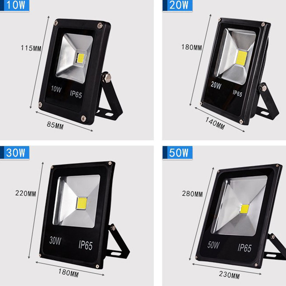 LED Luz de inundación 10 W 20 W 30 W 50 W AC 220 V impermeable IP65 Reflector lámpara de Reflector Led exterior de punto de publicidad al aire libre de la luz de mi