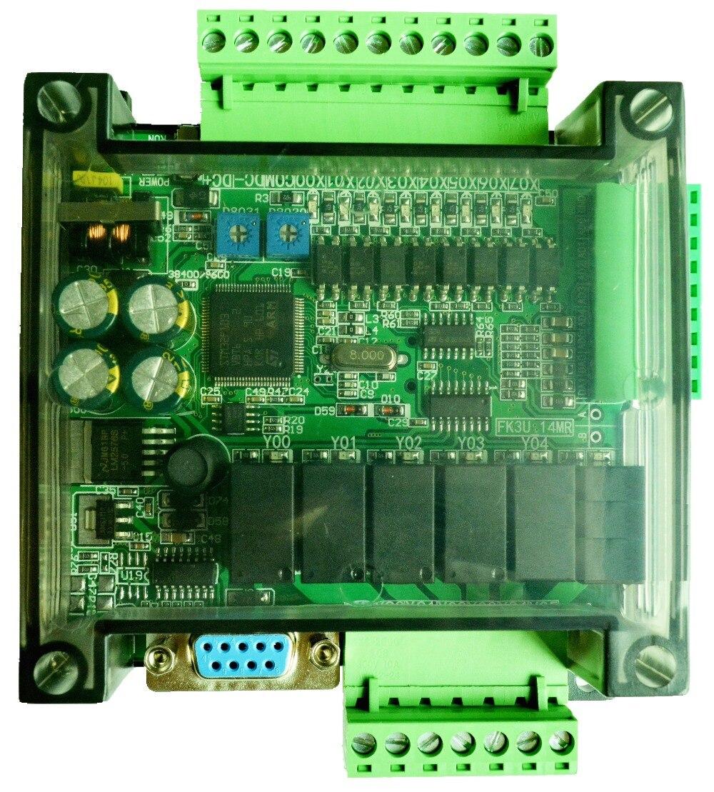 FX1N FX2N FX3U 14MR 6AD 2DA PLC RS232 RS485 Modbus RTU 24VDC for Mitsubishi PLC