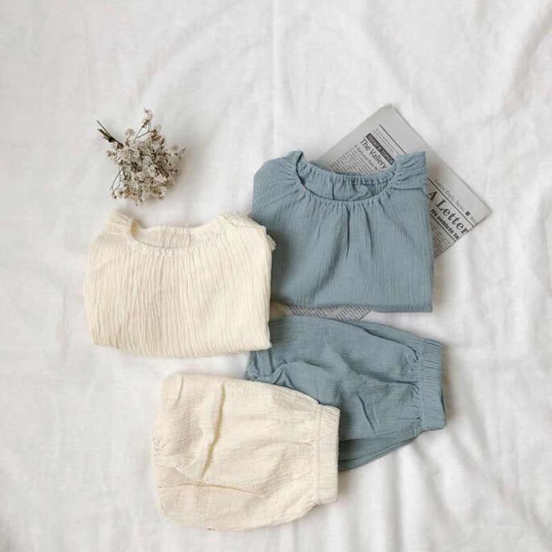 da2985b001c26 2019 New Baby Clothing Set Cool Linen Shirts and PP shorts Sets Summer Boys  Clothes Sets