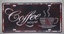 1 pc Coffee House cappuccino Italian Americano plaques shop store Tin Plates Signs wall Decoration Metal Art Vintage Poster