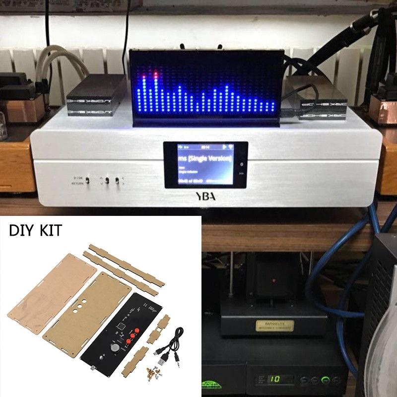 DIY KIT AS1424 digital Level Meter Audio LED Display Flashing Spectrum AnalyzerDIY KIT AS1424 digital Level Meter Audio LED Display Flashing Spectrum Analyzer