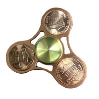 1 Pcs Hand Spinner Brass Fidget Hand Spinners EDC Ceramic Bearing Toys US Cents Spins Tri