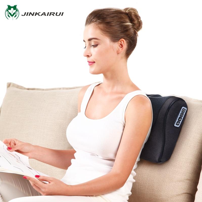 Jinkairui Neck Shiatsu Massager Cervical Back Massage Pillow Massagem Relaxamento Homecare Health Beauty Massager For Customer