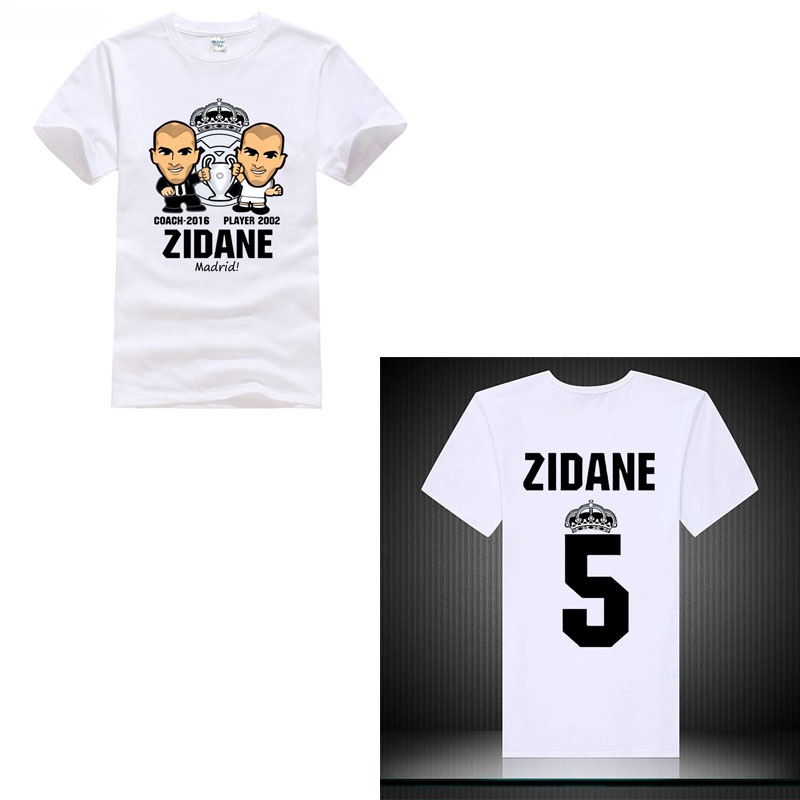 Club champios footballer New 2018 t Shirt player Benzema NO.5 Isco Zidane Ramos Bale ronaldo Madrid Kroos