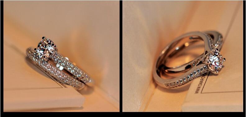 5a zircon cz 925 prata esterlina noivado