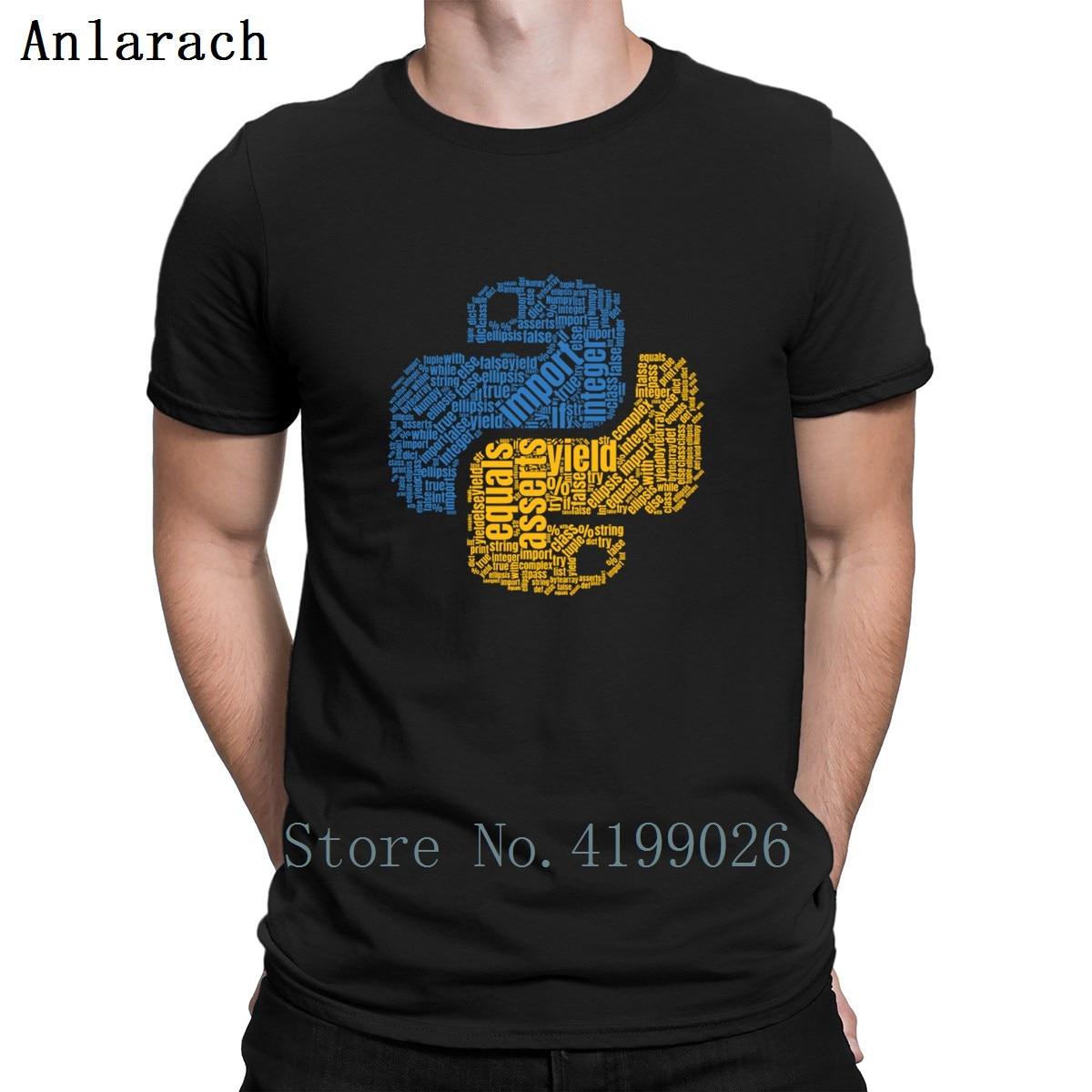Python programación Wordcloud camisetas clásicas verano Top regalo familia Camiseta cuello redondo diseños básico sólido Anlarach 2018