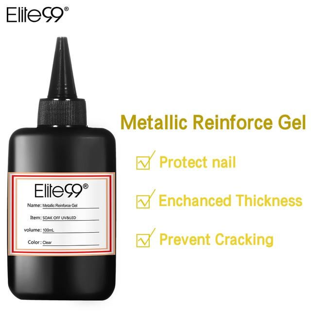 Elite99 Große Volumen 100 ml Sauber & Keine Sauber Matt Top Basis Mantel Metallic Verstärken UV Gel Polnischen Luft Trocknen primer Gel Lacke