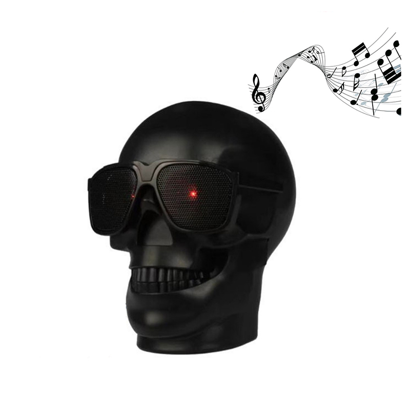 Wireless Speaker Skull Shape Bluetooth Speakers Sunglass Skull Speaker Subwoofer Multipurpose Portable Loudspeaker for phone