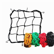 1 X Bicycle 30cm x 30cm Luggage Helmet Net Mesh Web Bungee Storage With 6 Hooks Hold For Motorcycle Bike stowing tidying(China)