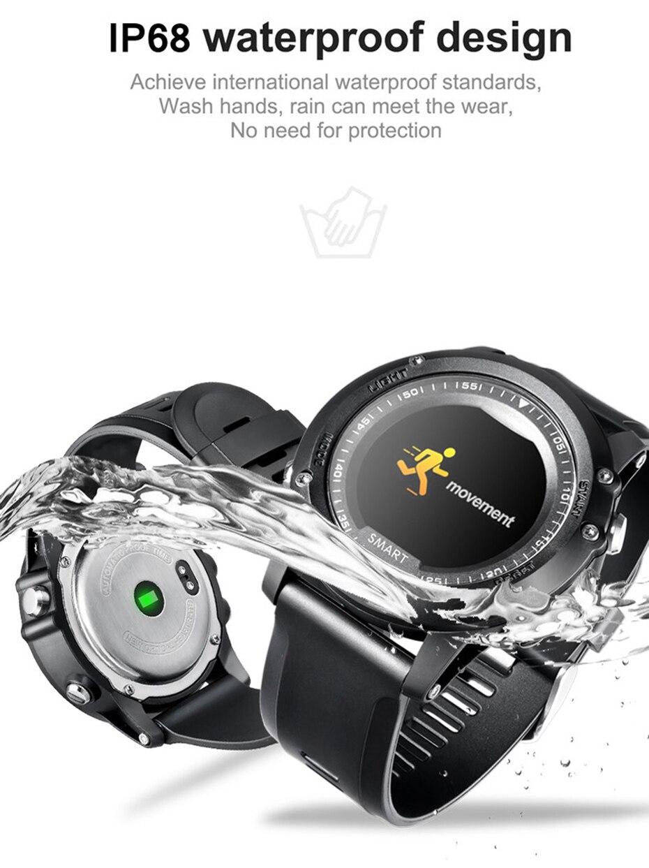 COLMI T2 IP68 Waterproof Heart Rate Monitor Push Message Call Reminder Clock Bluetooth 4.0 Brim Men Sport Smart Watch 3