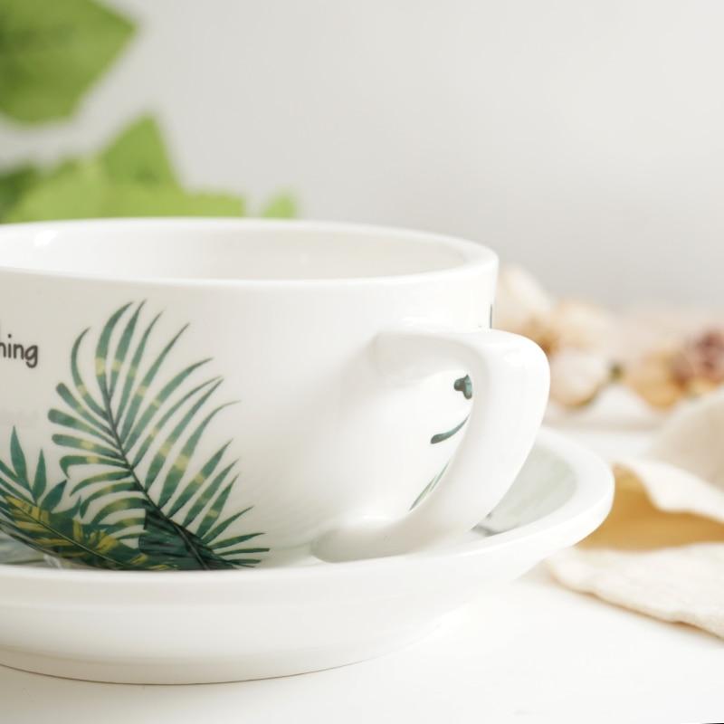 New Creative 320ml Coffee Cup Bamboo Leaf 2