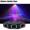 Escáner de línea de Sector disco láser 3 lentes RGB Lazer professinol DJ Barra de baile café Navidad hogar fiesta Disco efecto luz sistema de mostrar