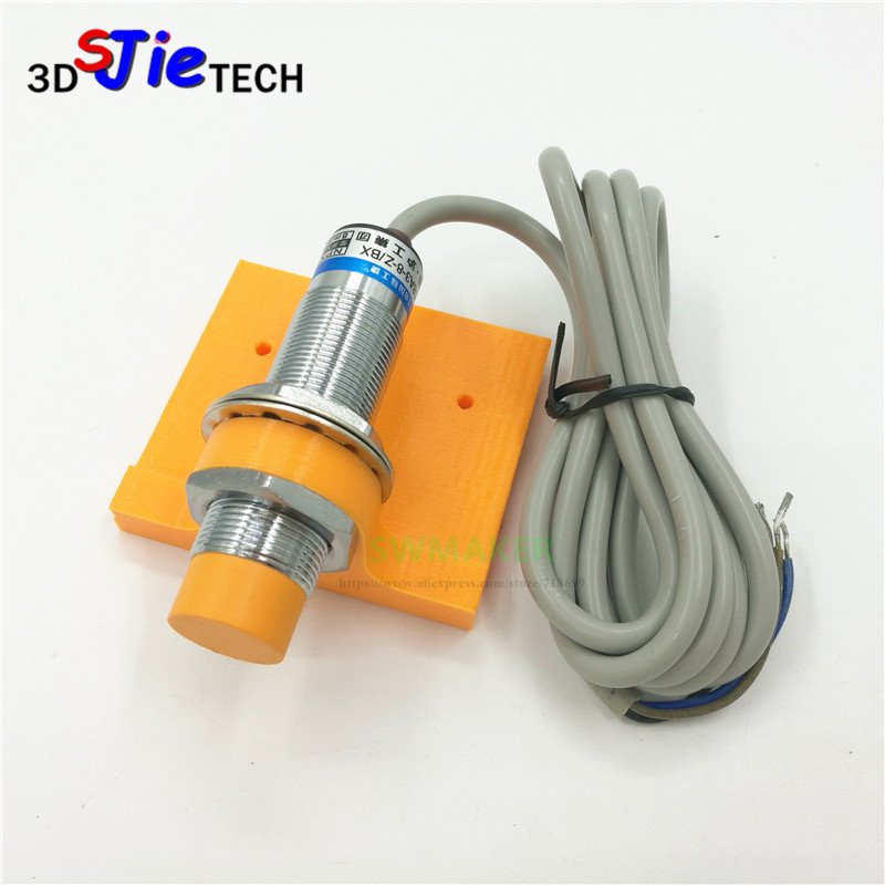 1 Set Anet A8 18mm Rear Mount Sensor Bracket Auto Leveling Glass Bed LJ18A3-8-Z/BX Inductive Sensor Reprap I3 3D Printer Parts