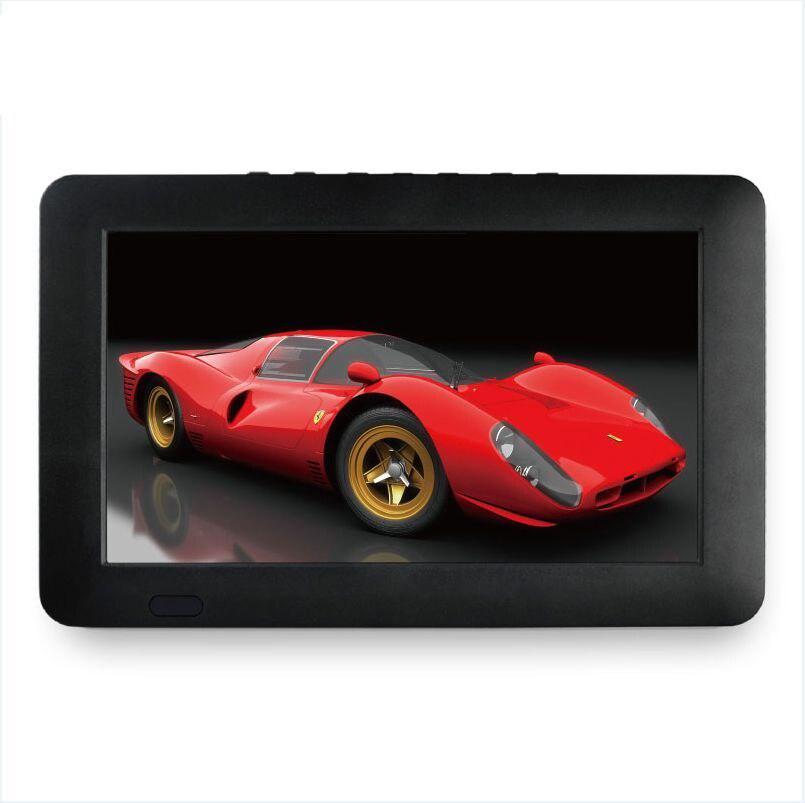 Prise américaine Portable 9 pouces 16:9 1080P TFT Led HD PVR DVBT2 DVBT ISDB prise en charge de la télévision analogique numérique lecteur de carte USB TF