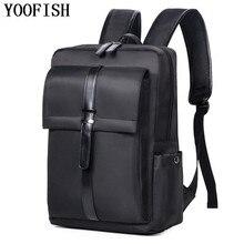 YOOFISH waterproof Nylon Bag 15.6 Inch Laptop Backpack Leisure School Backpacks Bags mens backpack bag school bags  LJ-927