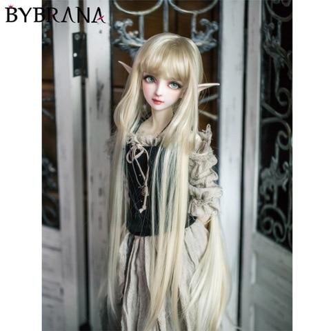 bybrana boa qualidade resistente ao calor do cabelo sintetico bonito em linha reta 1 3