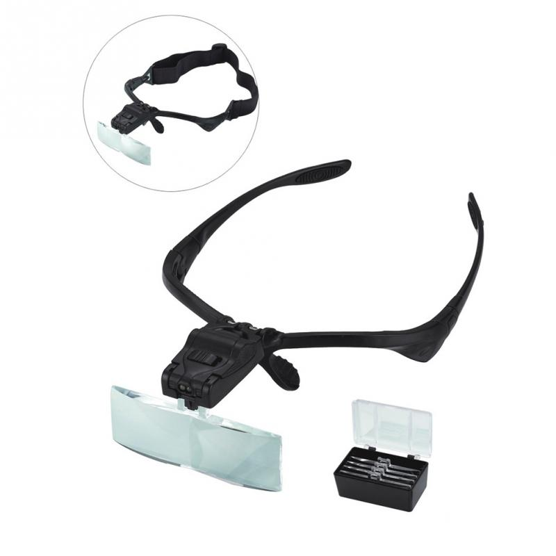 New Arrival 5 Lens 1.0X~3.5X Portable Headband LED Eye Glasses Goggles Loupe Visor Magnifier Headlamp LED Head LightsNew Arrival 5 Lens 1.0X~3.5X Portable Headband LED Eye Glasses Goggles Loupe Visor Magnifier Headlamp LED Head Lights