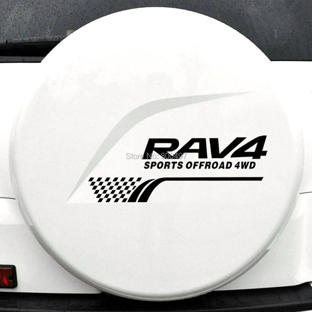 New Style Decoration  Rear Spare Tire Reflective Stickers Car Whole Body Decals for Toyota Rav 4