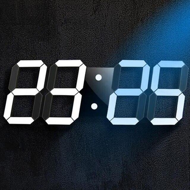 ddc356c7651 Criativo Controle Remoto Digital LED Grande Design Moderno Relógio de Parede  Decoração Da Casa 3d Decoração