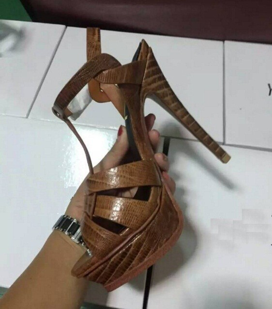 ФОТО Cool Unique Genuine Leather Shoes Size 34-41 Women Fashion High Heel Sandals Open Toe Girl Shoes Lady Patent Sandals ML2128-5