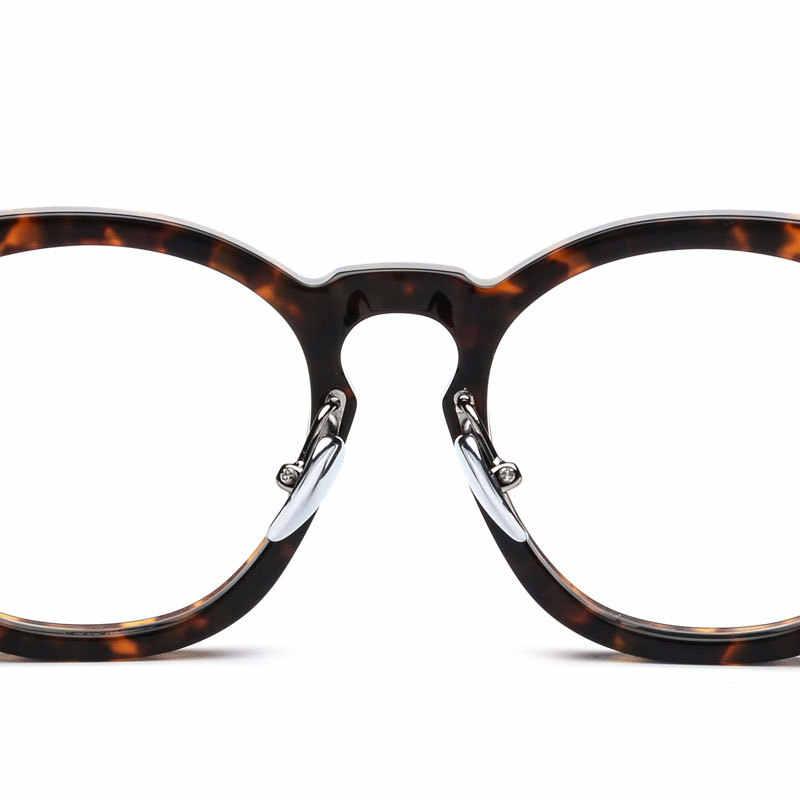 Round Acetate spectacle Vintage Retro Johnny Depp Style Clear myopia optical frame Glasses Men Women prescription Optic Frame