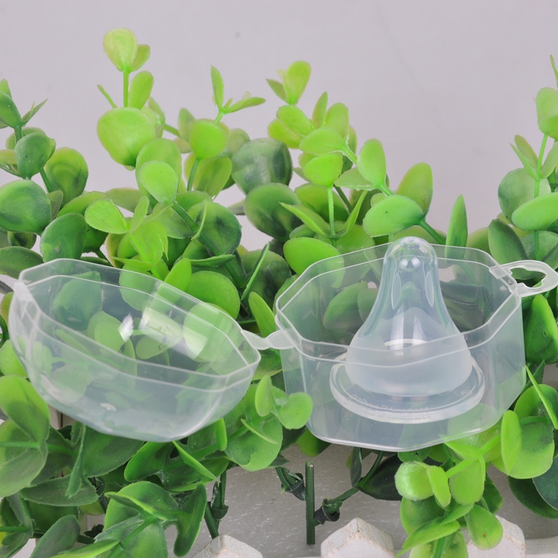 Babyage Baby PP Safety Plastic Wide Mouth Nipple Box Mouth Transparent Nipple Box Fit For Baby Infant Nipple box