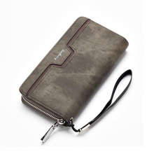 Baellerry men's long zipper wallet pu leather clutch bag business casual youth hand bag кошельки мужские все цены