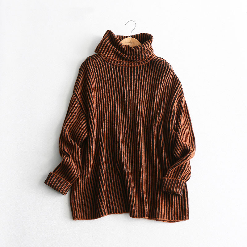 AOEMQ Winter Hot Sell Sweater Keep Warm Use High Turtleneck Protect Neck Winter Warm Sweater Cotton Soft Sweater for Women 12