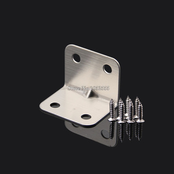 High Quality 50PCS 27*27*35*1.0mm Stainless Steel 90 Degree Corner Brace Angle Bracket Furniture Fastening Joint Hardware