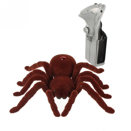 Remote Control Scary Creepy Soft Plush Spider Infrared Tarantula Toy Xmas Gift