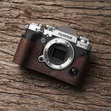 Fuji X T3 XT3 Camera Mr.Stone Handmade Genuine Leather Camera case Video Half Bag Camera Bodysuit