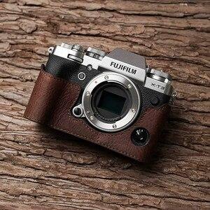 Image 1 - فوجي X T3 XT3 كاميرا Mr. Stone اليدوية جلد طبيعي كاميرا فيديو نصف حقيبة كاميرا ارتداءها