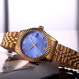 Image 5 - TORBOLLO frauen Armbanduhren Luxus Silber Rosa Zifferblatt Quarz Weiblichen Uhr Diamant Auto Datum Mode Damen Armbanduhr Neue Top