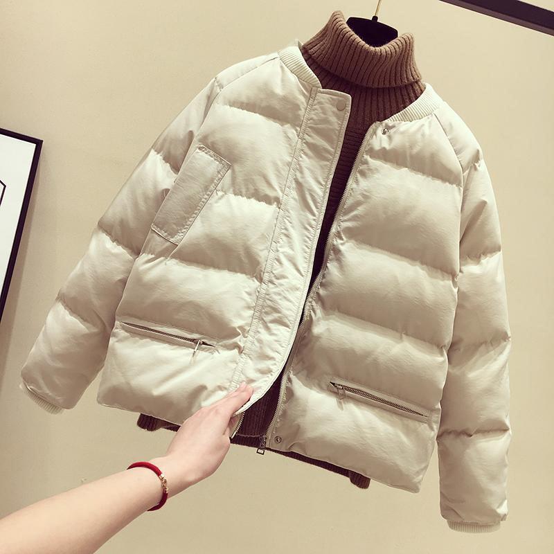 5 Colors Bomber Winter Jacket Women Coats 2019 New Arrival Fashion Warm Casual Femme Solid   Parka   Plus Size Outwear
