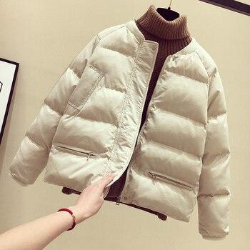 c3235b9975362 5 colores invierno chaqueta abrigos para mujeres 2018 nueva llegada de moda  Casual cálido mujer sólida Parka Plus tamaño abrigo
