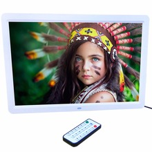 15″ LED HD High Resolution Digital Picture Photo Frame with Remote Controller US EU Plug Black / White Color In stock!