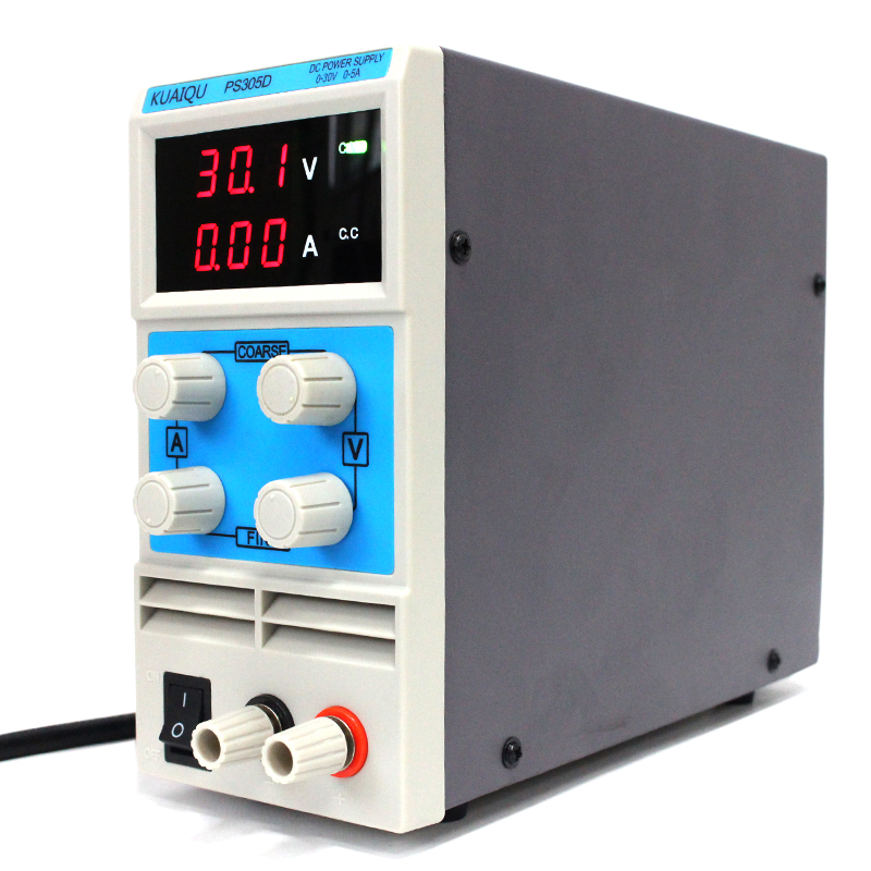 KUAIQU mini DC Power Supply,Switching Power Supply Display Digits Variable Adjustable 0-30V0-5A PS305D (4)