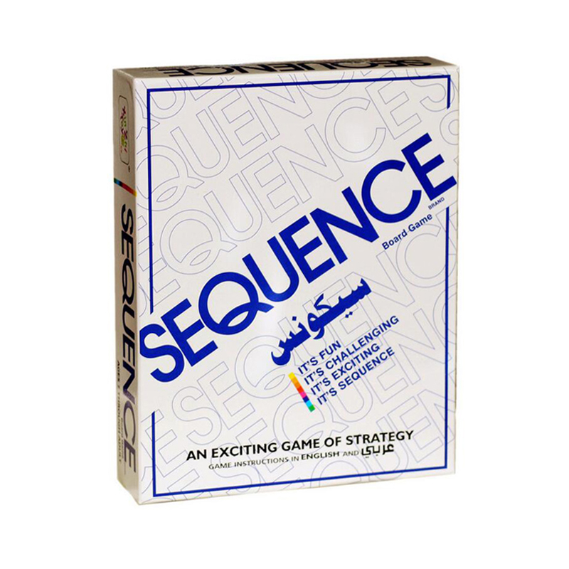 Sequence Games Children Challenging Sequence Board Game 104 Cards 2-12 Players Family Game English Version